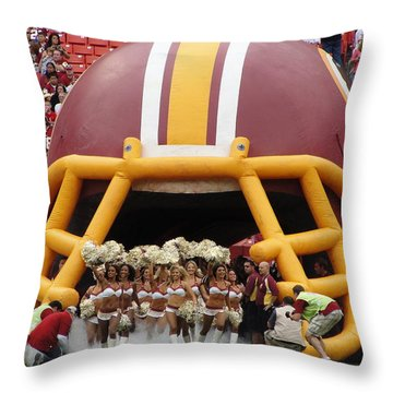 Redskins Cheerleaders Throw Pillow