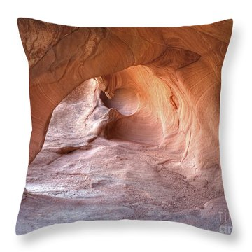 Throw Pillow featuring the photograph Redstone Dune Cave by Martin Konopacki