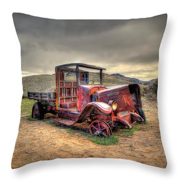 Redtired Throw Pillow