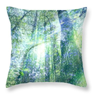 Redwood Dreams Throw Pillow by Nicole Swanger