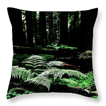 Redwood Fern Throw Pillow