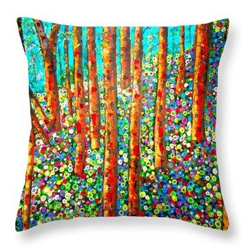 Redwood Hillside Throw Pillow