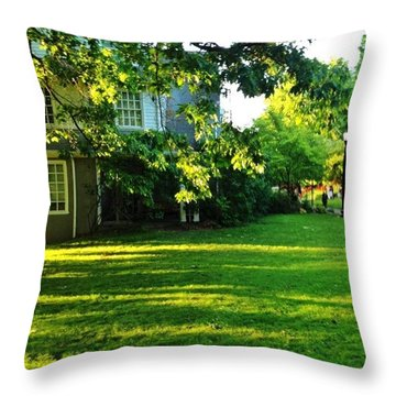 Reed College Campus Evening Light Throw Pillow