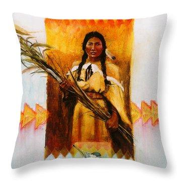 Reed Gatherer Throw Pillow