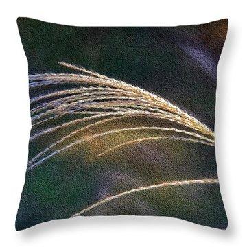 Reed Grass Throw Pillow