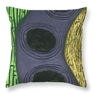 Reeds And Grass Throw Pillow