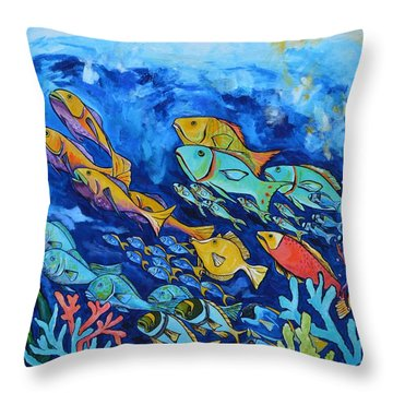 Reef Fish Throw Pillow