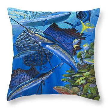 Reef Frenzy Off00141 Throw Pillow