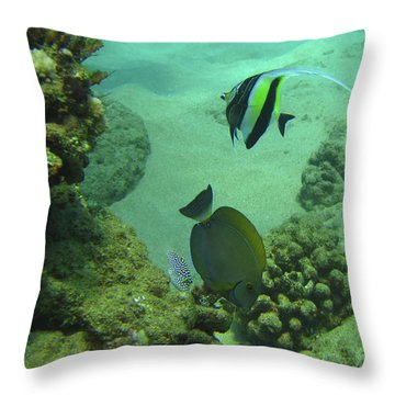 Reef Life Throw Pillow by Suzette Kallen