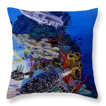 Reefs Edge Re0025 Throw Pillow