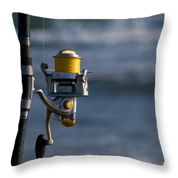 Throw Pillow featuring the photograph Reel Excitement by Greg Graham