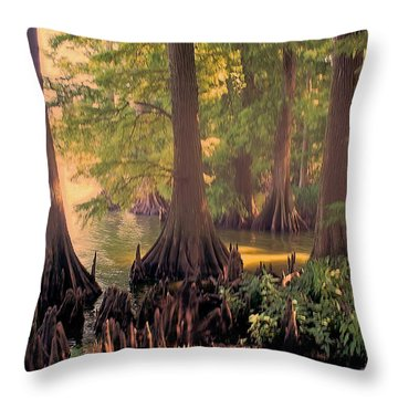 Reelfoot Lake At Sunset Throw Pillow