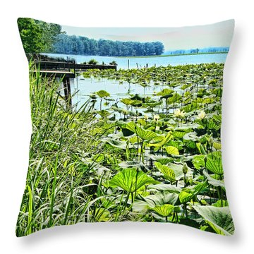 Reelfoot Lake Lilly Pads Throw Pillow