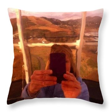 Reflect Back  Throw Pillow by Susan Garren