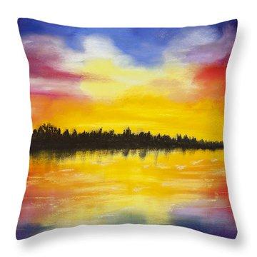 Reflect Throw Pillow by Dana Strotheide
