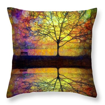 Reflected Dreams Throw Pillow by Tara Turner