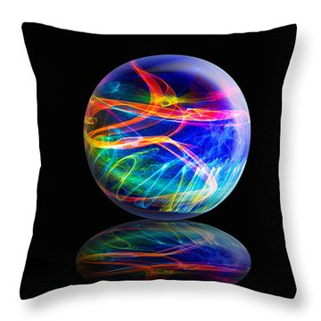 Reflected Flame Globe Throw Pillow