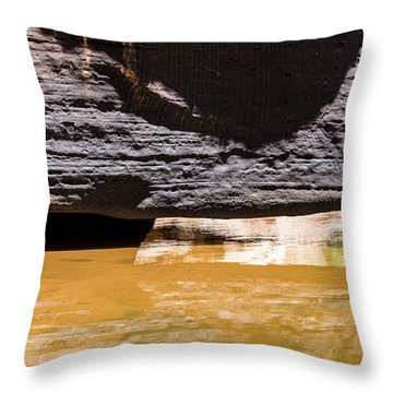 Reflected Formations Throw Pillow