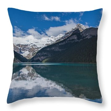 Reflected In Lake Louise Throw Pillow