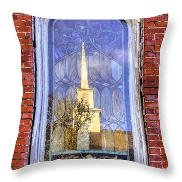 Reflected Steeple Throw Pillow by Rebecca Hiatt