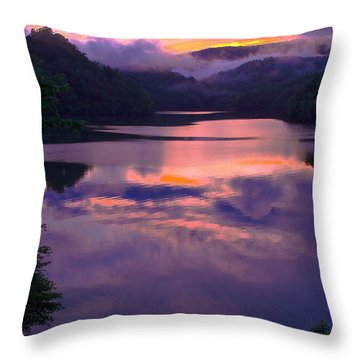 Reflected Sunset Throw Pillow