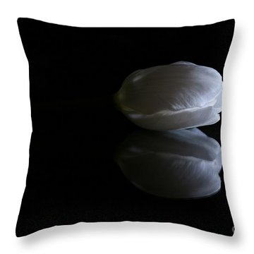 Reflected Tulip Throw Pillow