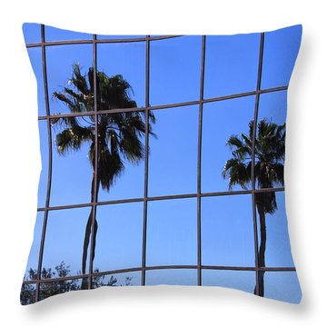 Throw Pillow featuring the photograph Reflected Window by Rosalie Scanlon