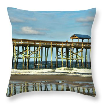 Reflection Pier Throw Pillow