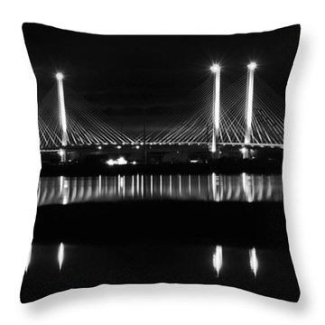 Reflecting Bridge Throw Pillow