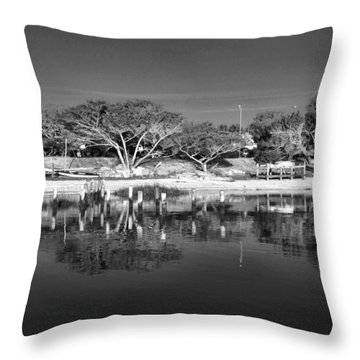 Reflecting Lighthouse  Throw Pillow by Alice Gipson