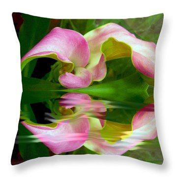 Reflecting Lily Throw Pillow