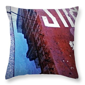 Throw Pillow featuring the photograph Reflecting On City Life by James Aiken