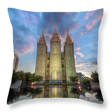 Reflecting On Faith Throw Pillow