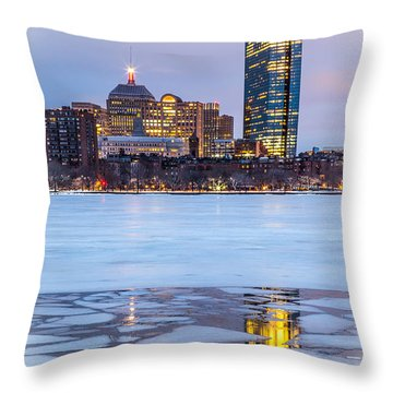 Reflecting On Ice Throw Pillow