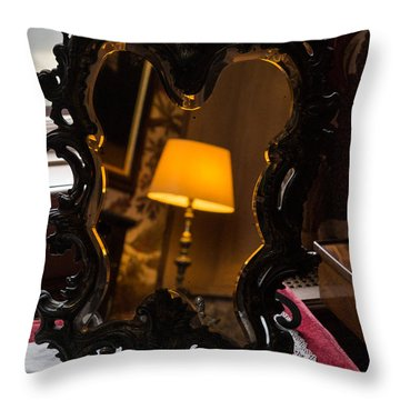 Reflecting On Lamps And Dreams  Throw Pillow by Georgia Mizuleva