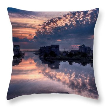 Reflecting On North Carolina Throw Pillow by Tony Cooper