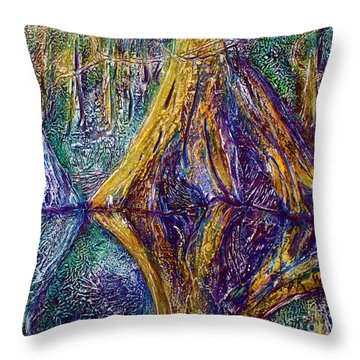 Reflecting On The St. Johns River Throw Pillow