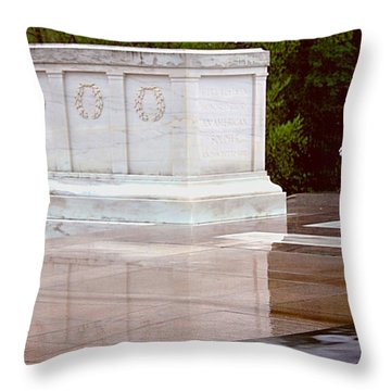 Reflecting On The Unknown Throw Pillow