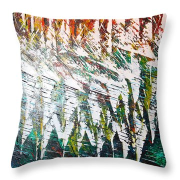 Reflecting Sails Throw Pillow by George Riney