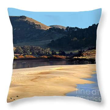 Reflecting The Setting Sun Throw Pillow