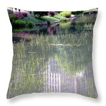 Reflection And Movement Throw Pillow