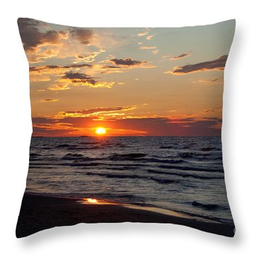 Throw Pillow featuring the photograph Reflection by Barbara McMahon