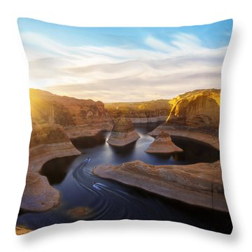 Throw Pillow featuring the photograph Reflection Canyon by Dustin  LeFevre