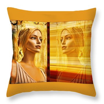 Reflection Throw Pillow by Chuck Staley