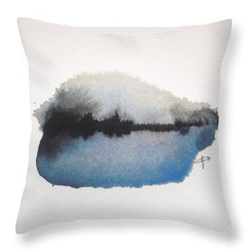 Reflection In The Lake Throw Pillow by Vesna Antic