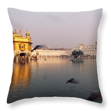 Reflection Of A Temple In A Lake Throw Pillow