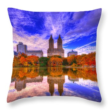 Reflection Of City Throw Pillow