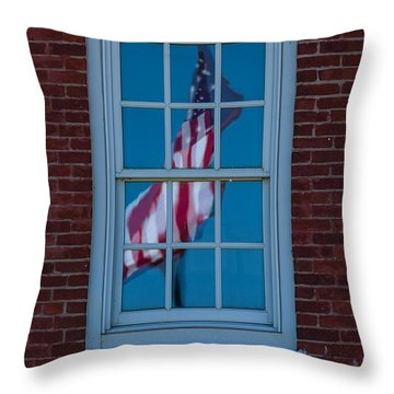Throw Pillow featuring the photograph Reflection Of Freedom by Patrick Shupert