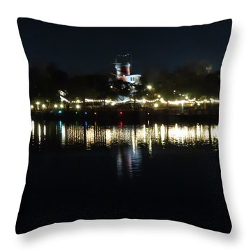 Reflection Of Lights Throw Pillow