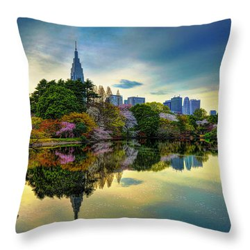 Reflection Of Spring Throw Pillow